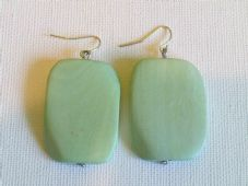 Large wooden pendant earrings